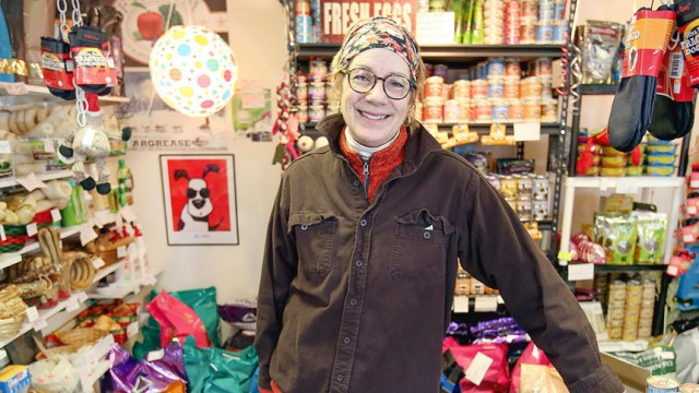 "t02.03.2016 -- Steve Kuchera -- kucheraBEADS0208c5 -- Matilda's Dog Bakery owner in her shop at 4711 East Superior Street. ""We grew out of this place a year or a year-and-a-half ago,"" she said. She will move her shop into the building currently housing Superior Beads. The move will triple the store's floor space. Steve Kuchera / skuchera@duluthnews.com"
