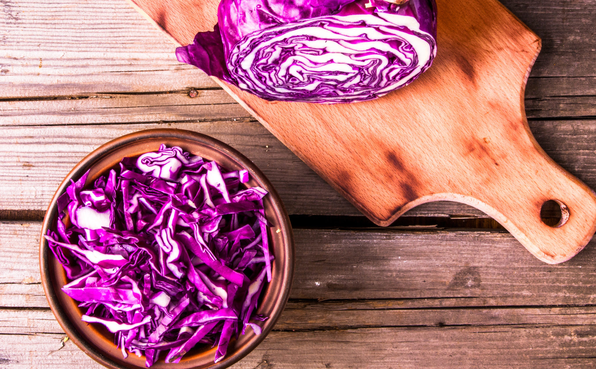 Organic, Local Red & Green Cabbage - $1.29/lb
