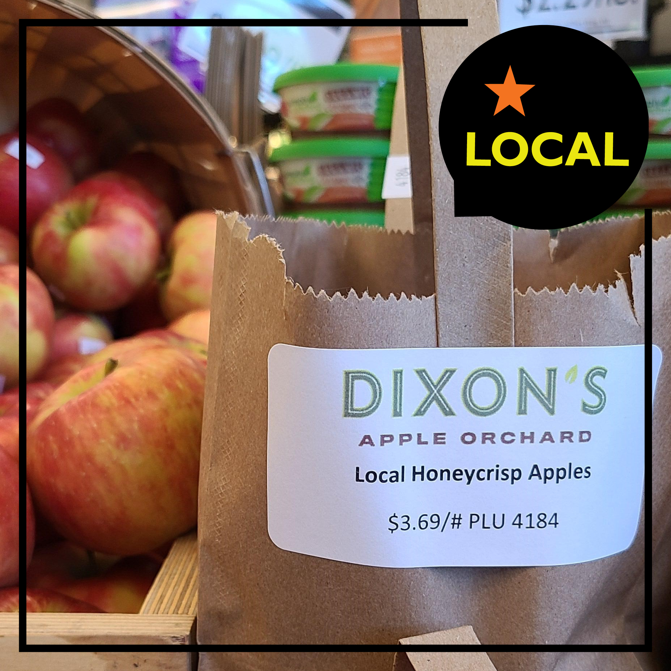 Organic, Local Honeycrisp Apples $2.99/lb.